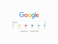 Google with icon
