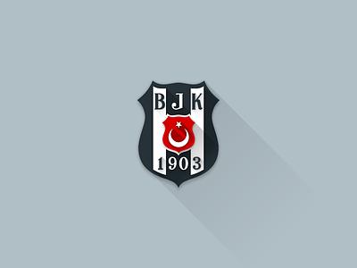 Beşiktaş J.K. Logo Flat 2.0  white black flat 2.0 flat bjk besiktas logo
