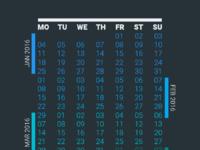 Png vector calendar 2016