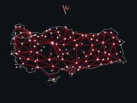 "Turkey ""Network"" Map (black)"