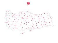 "Turkey ""Network"" Map (white)"