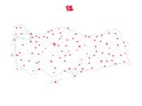 """Turkey """"Network"""" Map (white)"""