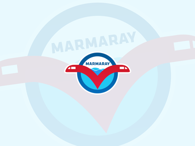 Marmaray #2 Rail Logo Idea undersea tunnel transport transportation rail marmaray metro design turkey icon logo