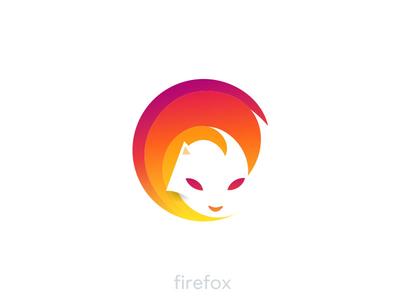 Firefox Logo Idea idea design logodesign logotype heat fire fox dreamfox logo firefox