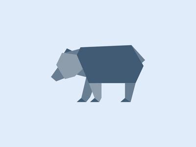 Bear bear animal polygon