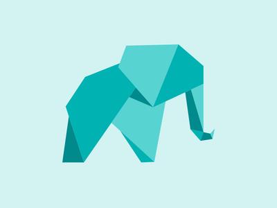 Elephant polygon elephant animal