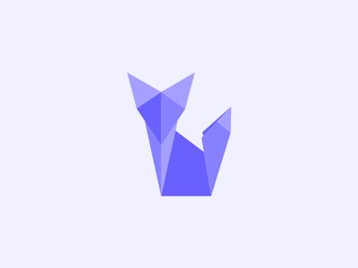 Fox polygon crane animal