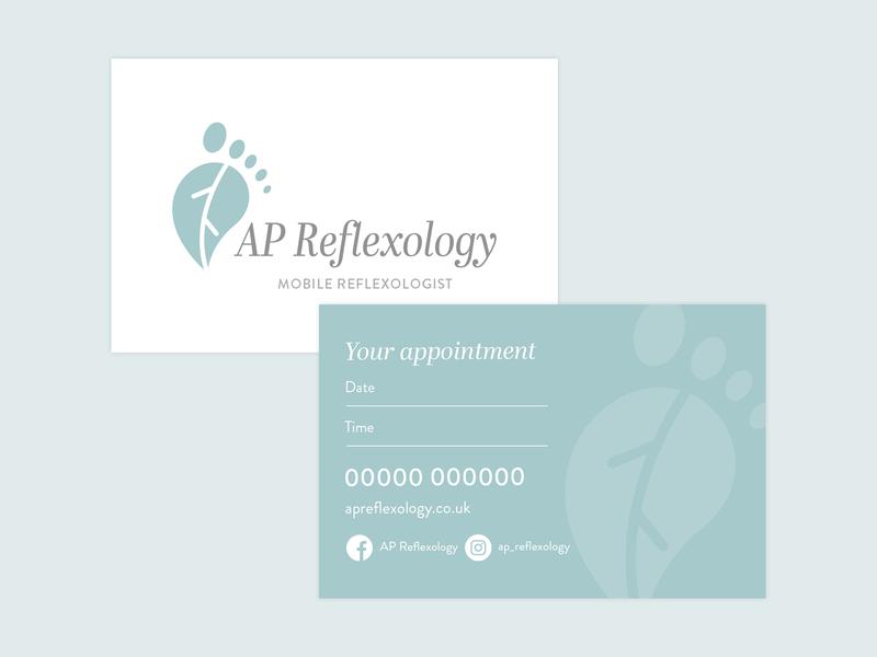 AP Reflexology business cards
