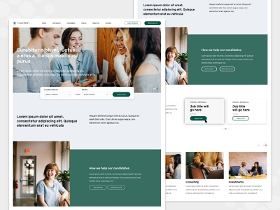 Recruitment Homepage recruitment system web  design design landing page web design clean adobexd career web jobsite website homepage jobs recruitment