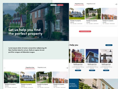 Estate Agency Home Page landingpage website adobexd homepage houses clean web design estate agents estate agency property
