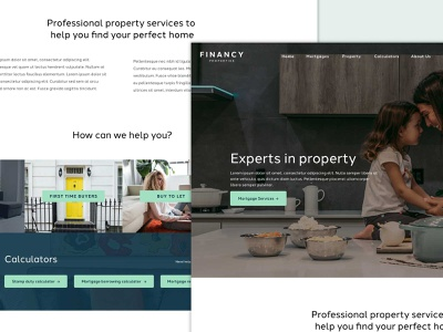 Property Website homepage home clean website design mortgage website mortgages property