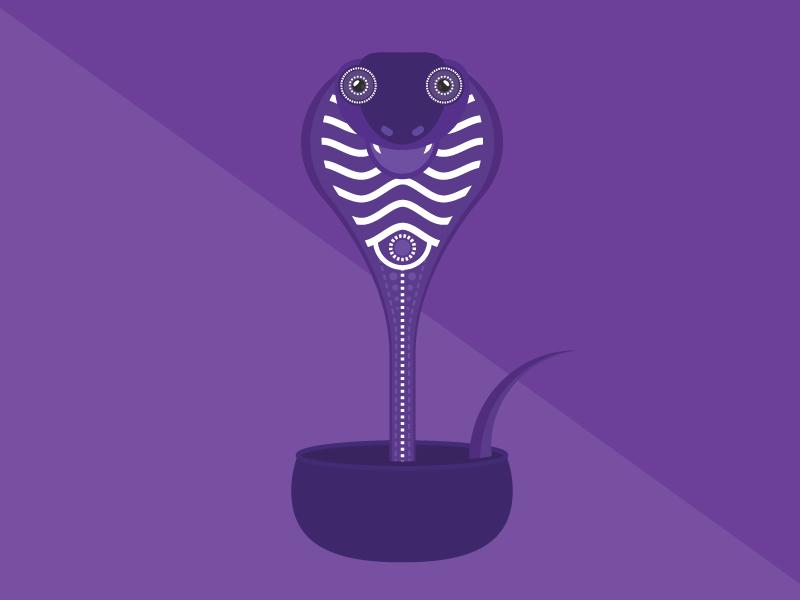 The Snake box happy animal patterns poison purple long cobra cute beautiful flanimals snake