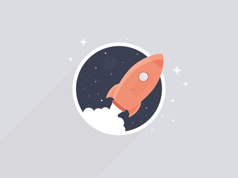 The sky is the limit stars icon day the-daily-icon universe rocket sky