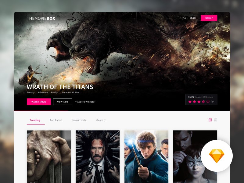 TheMovieBOX wrath of titans rating trending freebie sketch movie platform dashboard videos movies themoviebox