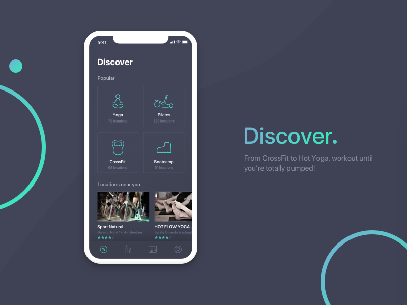 Discover Workouts iphone x app sports mobile dark workout discover
