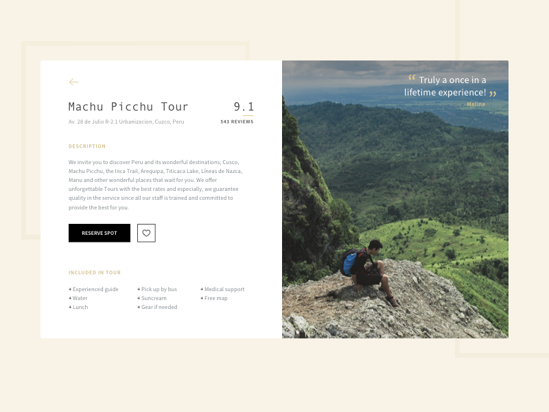 Touring Experience touring book tour reserve reviews machu picchu touring experience