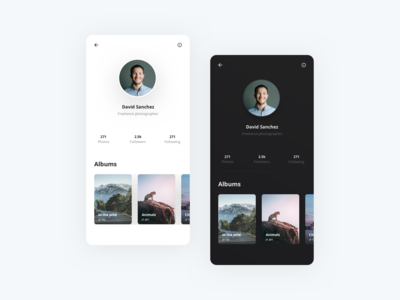 Profile - Photography App