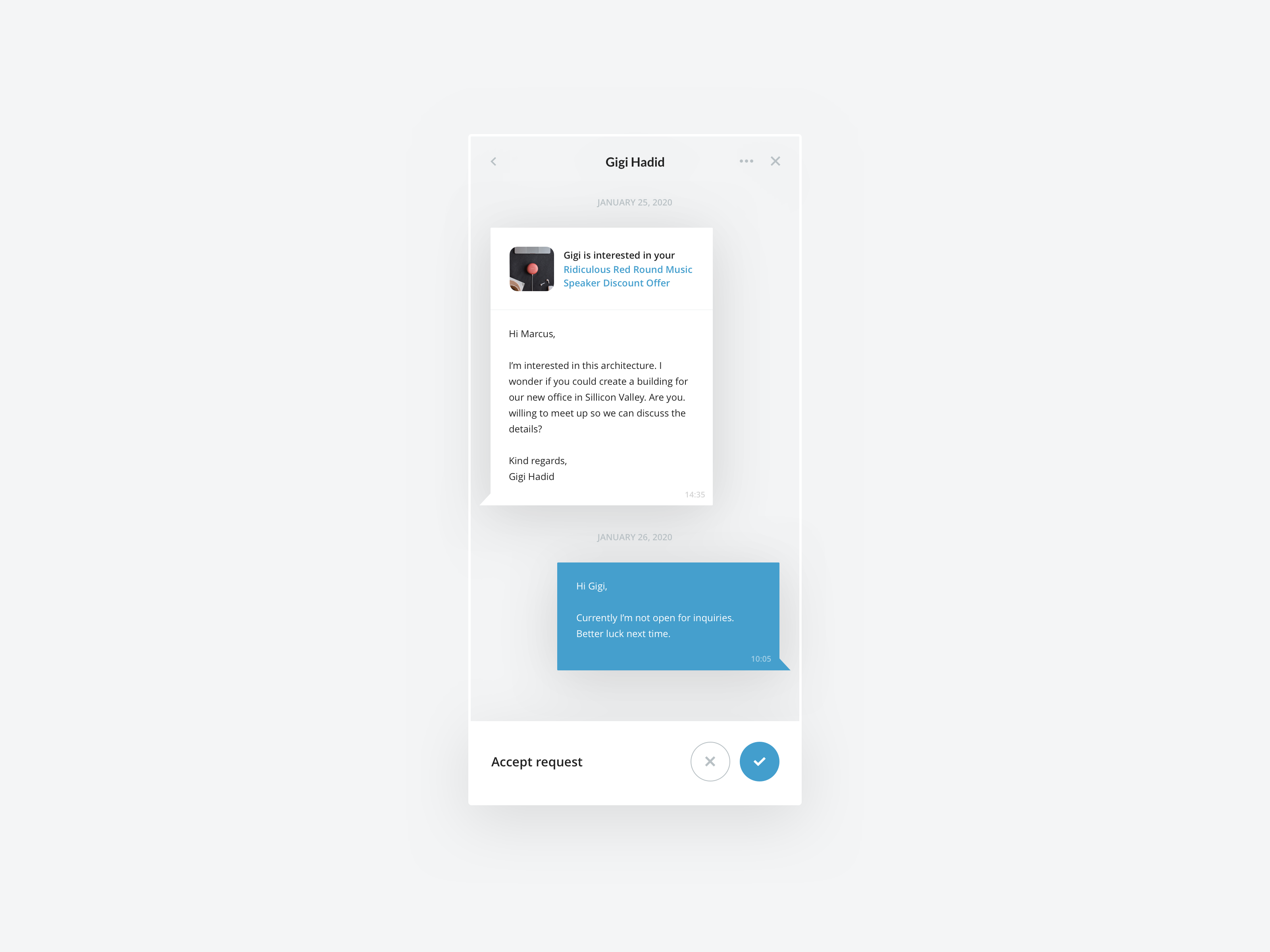 Mobile Selling App - Chat by Milan Houter on Dribbble