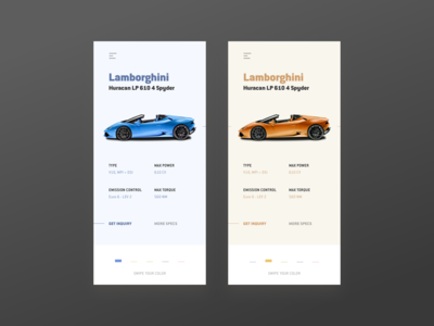 Lamborghini Color Picker