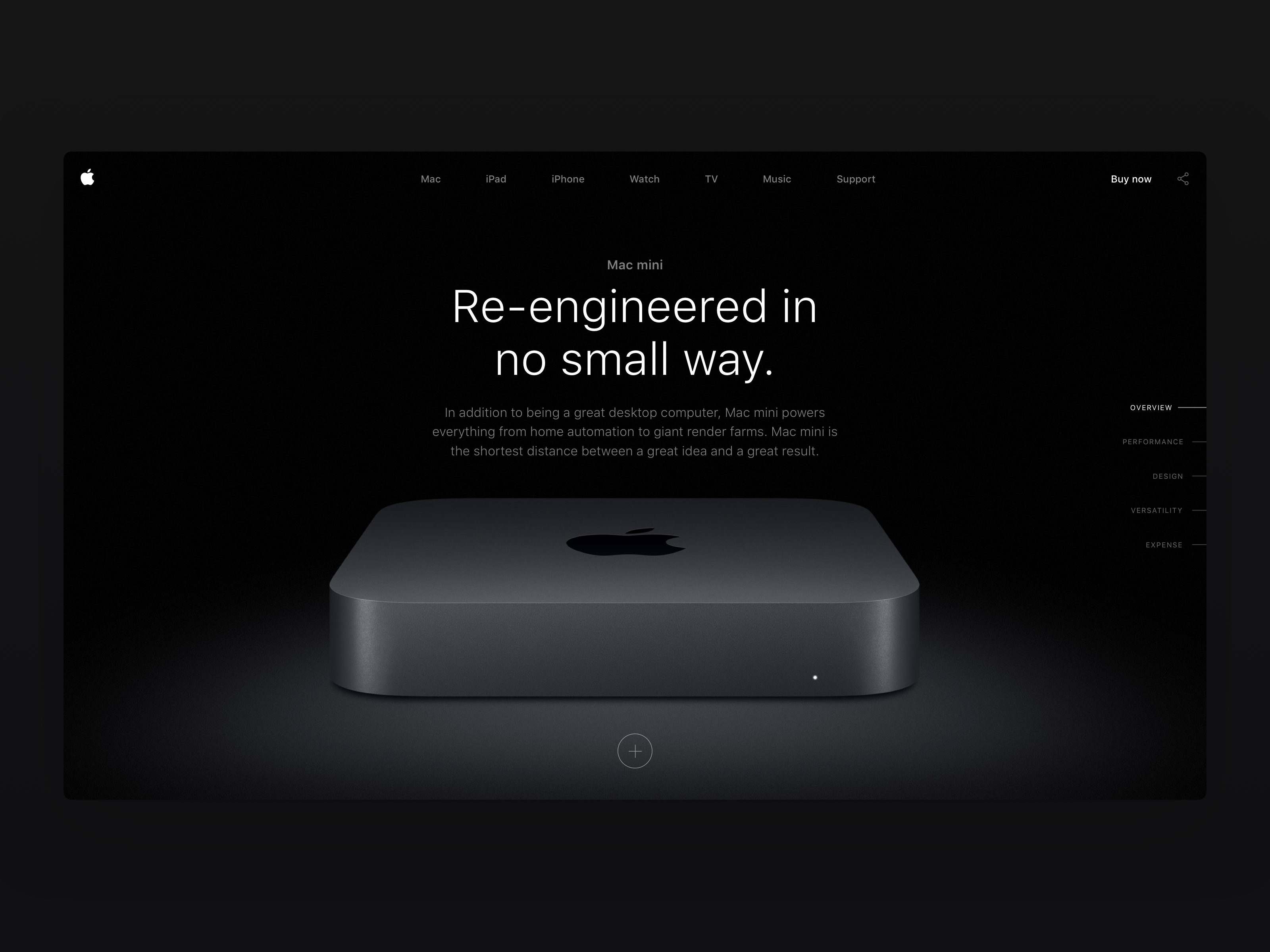 Apple Mac Mini - Product Detail page by Milan Houter on Dribbble