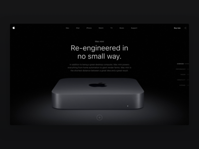 Apple Mac Mini - Product Detail page