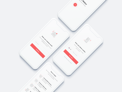 Mail Maker - Onboarding Flow onboarding screens mail ui mailing app intro screen intro app ui ios ui android ui clean white minimal mobile ui mobile mail onboarding flow introduction first visit onboarding screen app mail app mail
