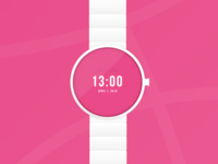 Dribbble invite - Now is the time to join! invite giveaway invite friends simple branding minimal watching clock smartwatch time pink white clean watch tickets draft dribbble invite dribbble invitation invite
