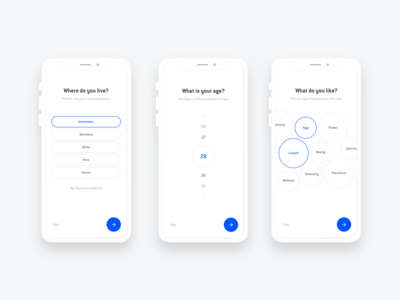 Mobile Onboarding Flow - OneFit App