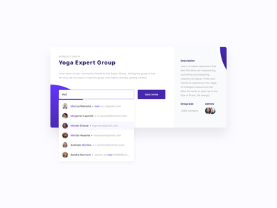 Yoga Expert Group - Invite Friends / Users