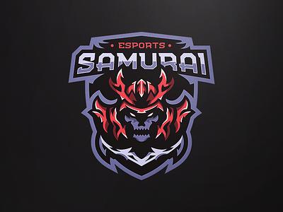Mascot logo - Samurai logo illustrator design esportslogo