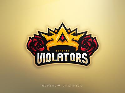 Violators - mascot logo! illustrator vector mascotlogo mascot illustration esportslogo logo design