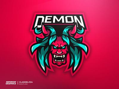 Mascot logo for sale! Demon vector mascotlogo mascot logo illustration illustrator esportslogo design