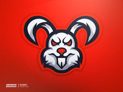 RABBIT - Mascot logo vector mascotlogo mascot logo illustration esportslogo illustrator design