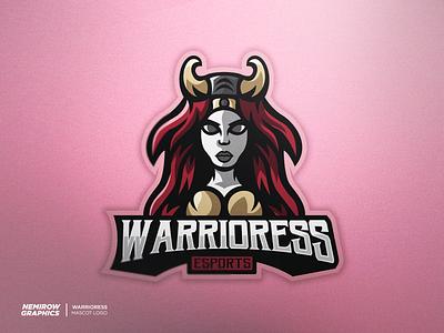 Mascot logo - Warrioress vector mascotlogo mascot logo illustration esportslogo illustrator design