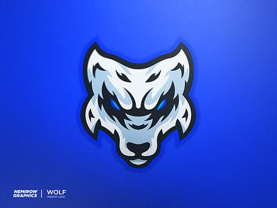 WOLF - Mascot logo minimal vector mascotlogo mascot logo illustration esportslogo illustrator design