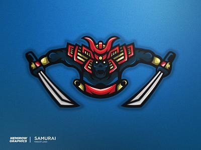 Samurai - mascot logo! vector mascotlogo mascot logo illustration esportslogo illustrator design