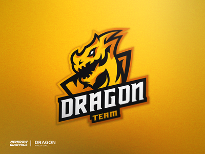 Dragon - mascot logo minimal vector mascotlogo mascot logo illustration esportslogo illustrator design