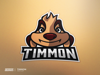 Timon - mascot logo! vector mascotlogo mascot logo illustration esportslogo illustrator design