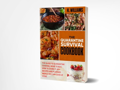 The Quarantine Survival CookBook illustration graphicdesign fiverrgigs cookbook quarantine ebook kindle ebooks adobe photoshop fiverr.com fiverr ebook cover kindle cover book cover design book cover book