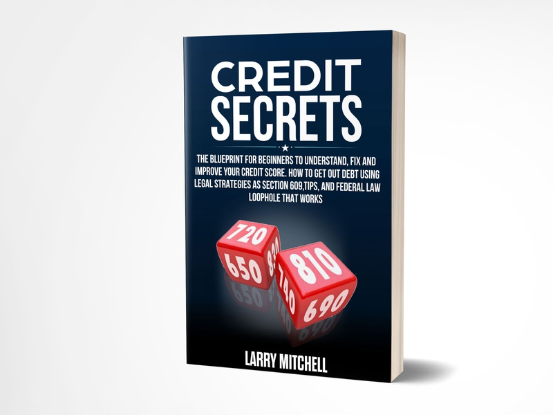 Credit Secrets selfpublishing fiverrgigs fiverrdesign graphics black kindlecover ebook cover graphicdesign book cover adobe photoshop brand credisecrets fiverr.com branding fiverr ebook kindle bookcoverdesign blue book