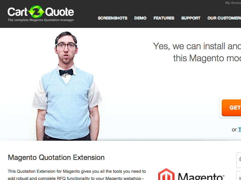 Cart2Quote magento extention