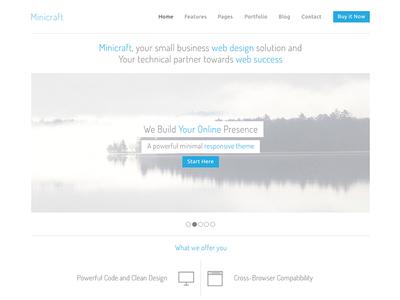Freebie PSD - Web Design simple psd free download freebie minimal design web clean