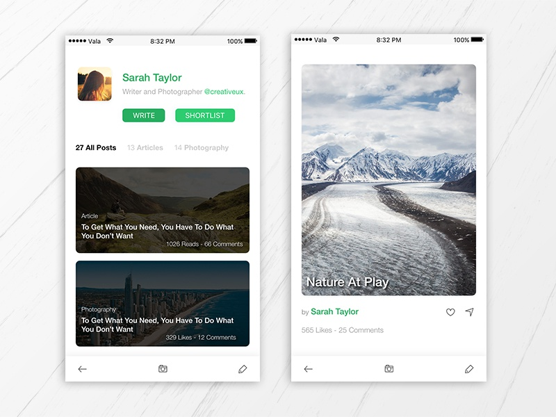 Freebie Sketch – Photography and Travel App