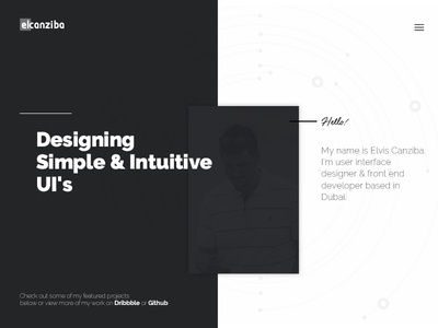 Personal Website - Early Concept homepage landing page site website clean ui portfolio minimal personal