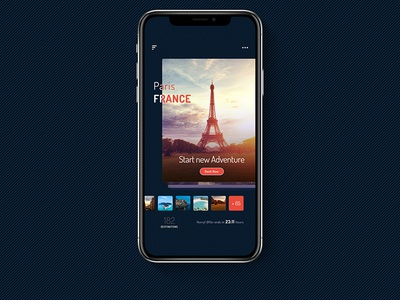 Travel App - Demo Screen trip booking ux ui iphone x android ios mobile app travel