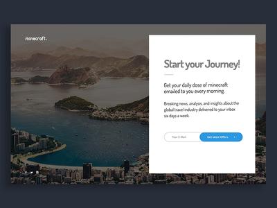 Travel Blog Header - Subscribe Box blog design web design app ui ux heading hero header subscribe blog travel