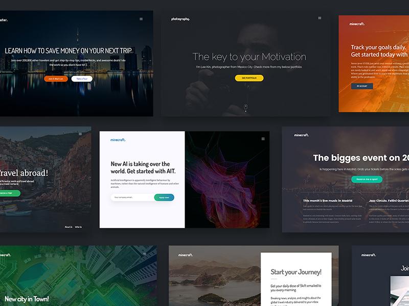 Hero Headers – Landing Pages UI Kit