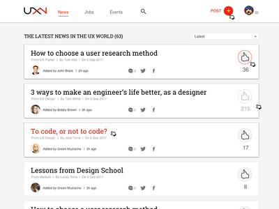 UX News and Learning Platform lms web web design news site blog ux news ui ui design ux