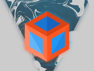 Home Screen cube graphic vibrant orange vector simple design