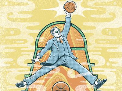 James Nainsmith surrealism ilustración print magazine design press ball james nainsmith basket ball basket basketball illstration